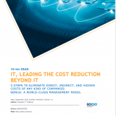 10-min READ: IT, LEADING THE COST REDUCTION BEYOND IT